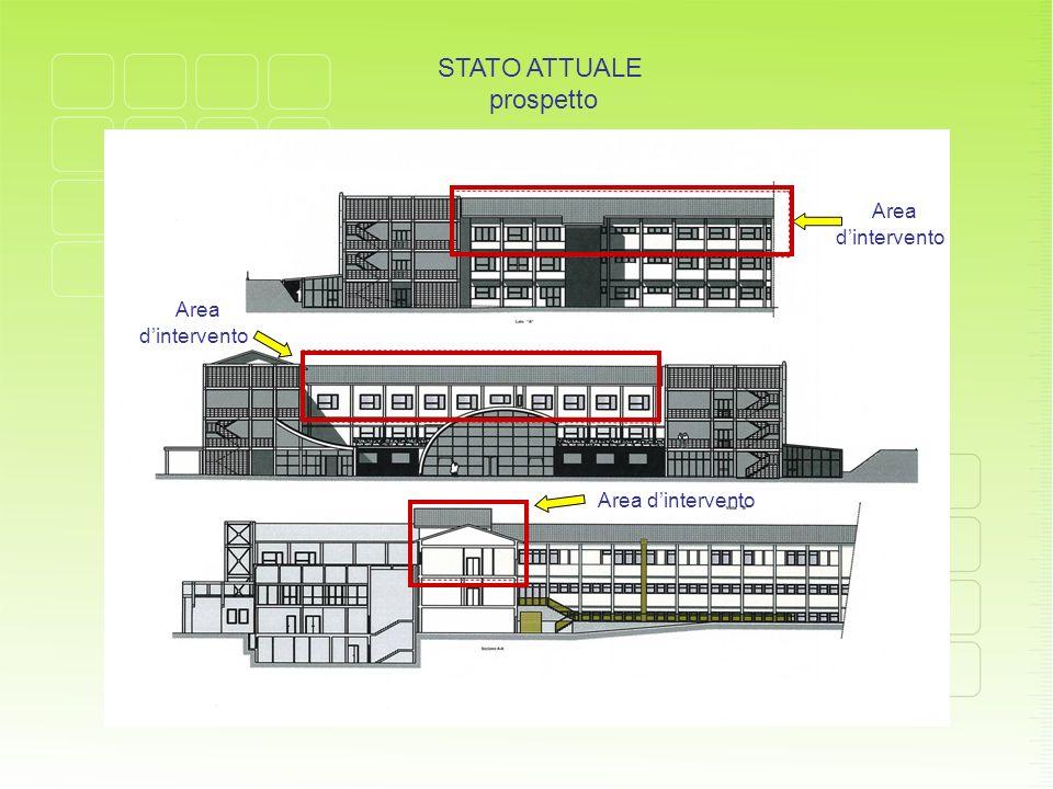 STATO ATTUALE prospetto Area d'intervento Area d'intervento Area d'intervento