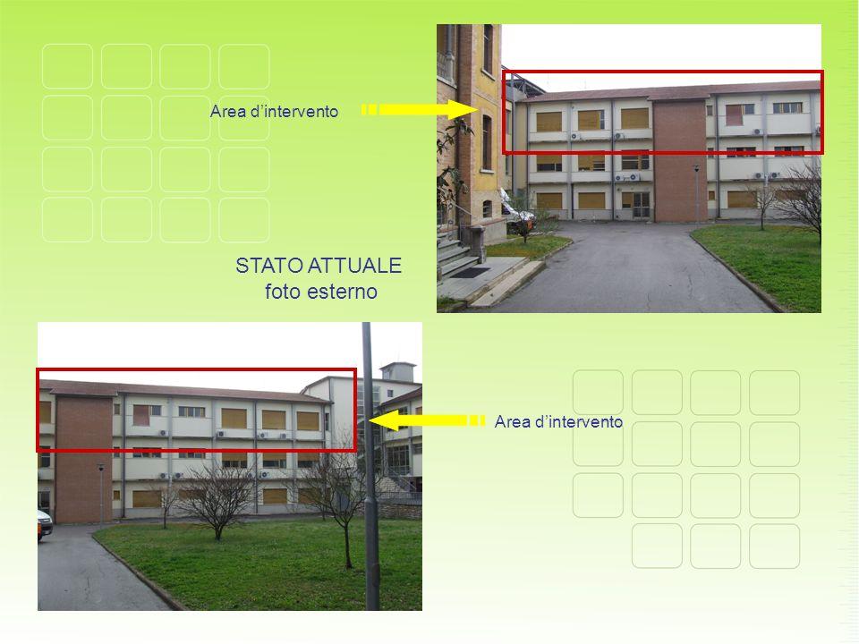 Area d'intervento STATO ATTUALE foto esterno Area d'intervento
