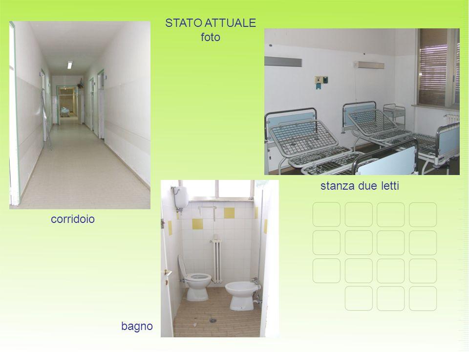 STATO ATTUALE foto stanza due letti corridoio bagno