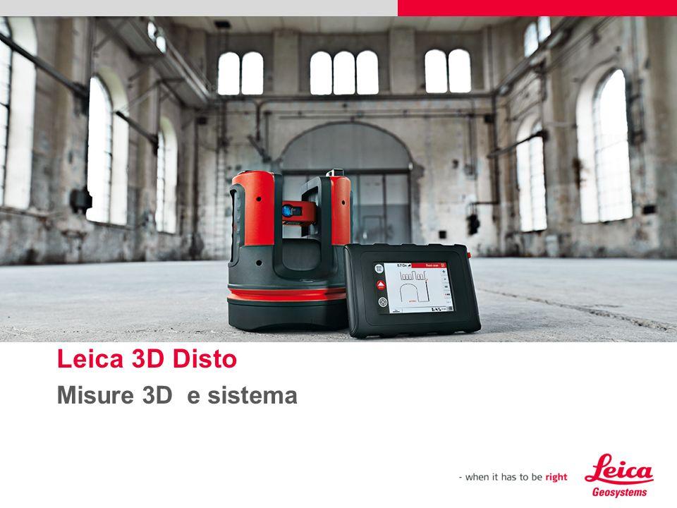 Leica 3D Disto Misure 3D e sistema