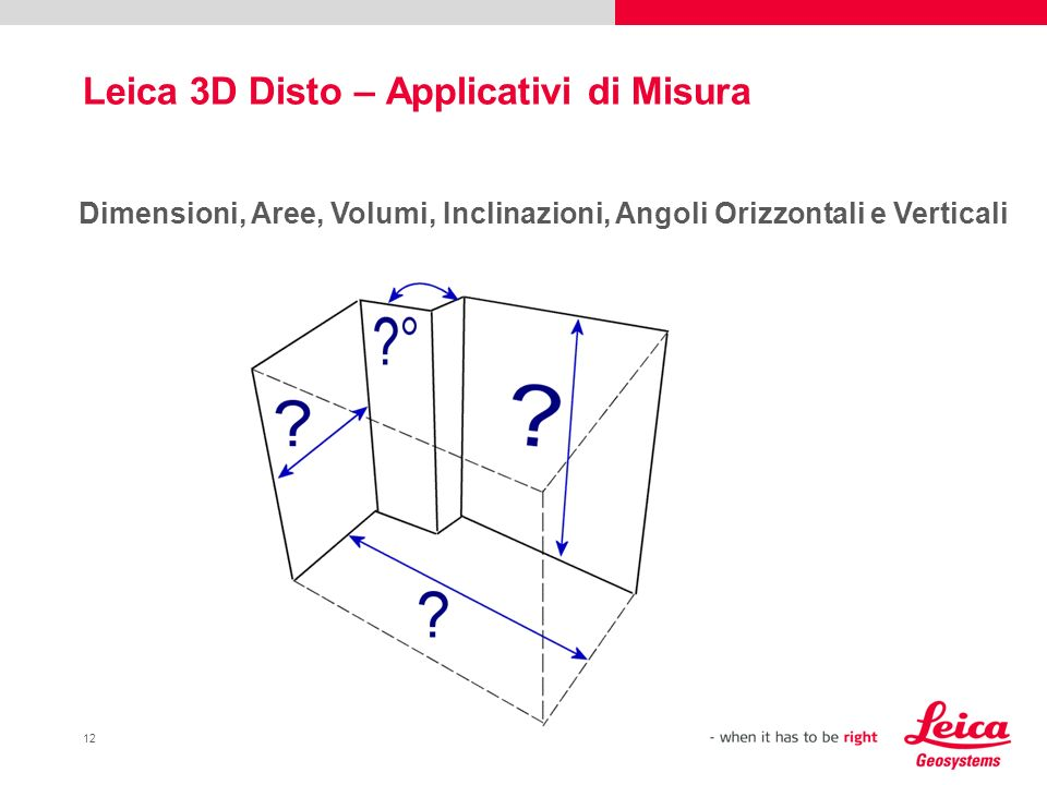 Leica 3D Disto – Applicativi di Misura