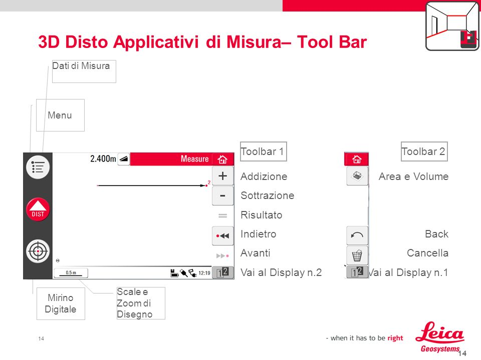 3D Disto Applicativi di Misura– Tool Bar
