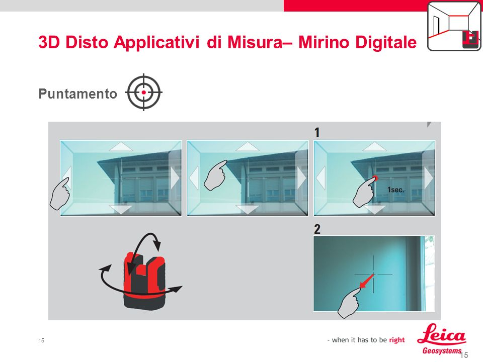 3D Disto Applicativi di Misura– Mirino Digitale