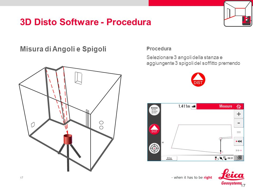 3D Disto Software - Procedura