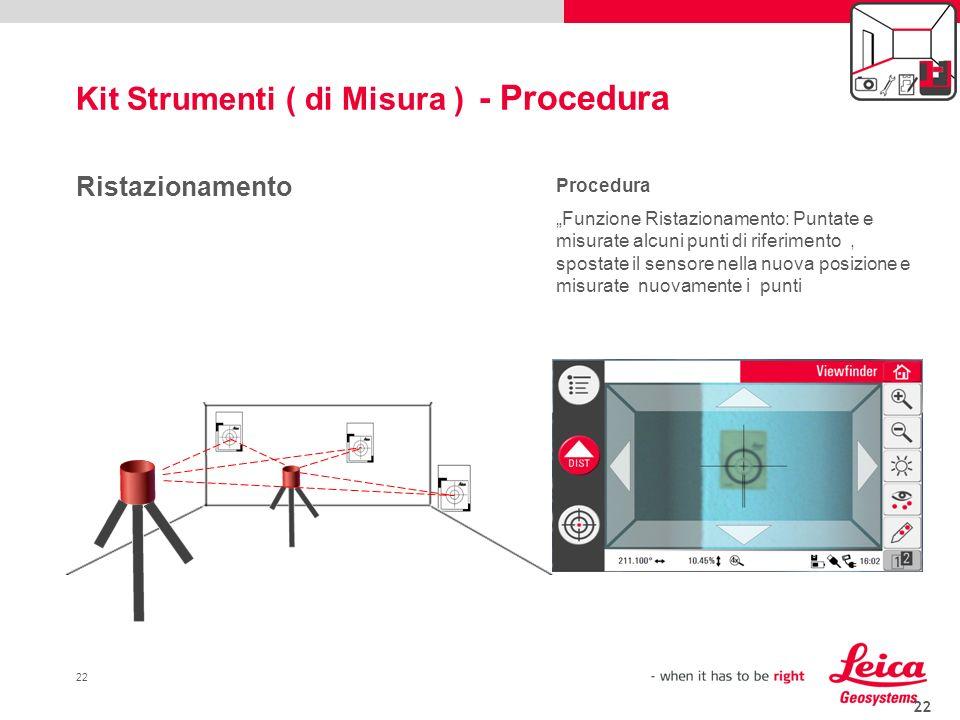 Kit Strumenti ( di Misura ) - Procedura