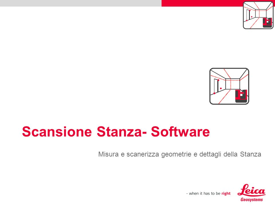 Scansione Stanza- Software