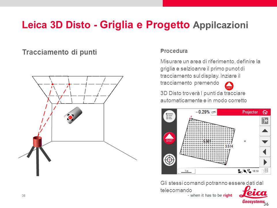 Leica 3D Disto - Griglia e Progetto Appilcazioni