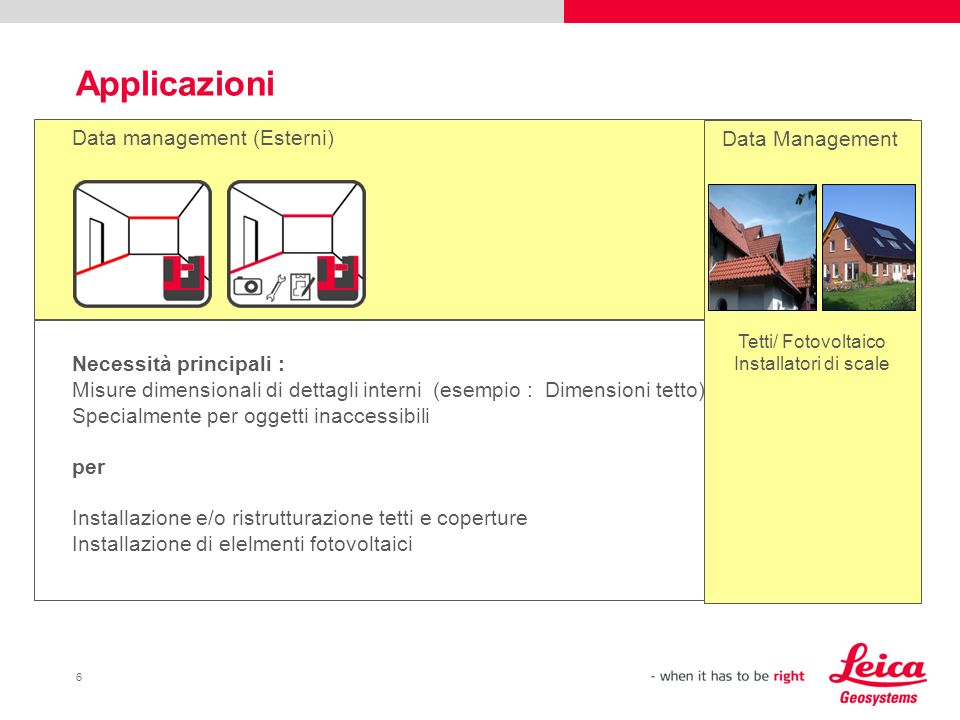 Applicazioni Data management (Esterni) Data Management