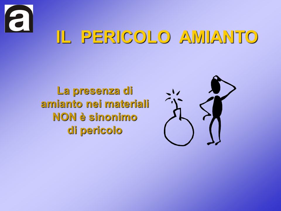 IL PERICOLO AMIANTO La presenza di amianto nei materiali