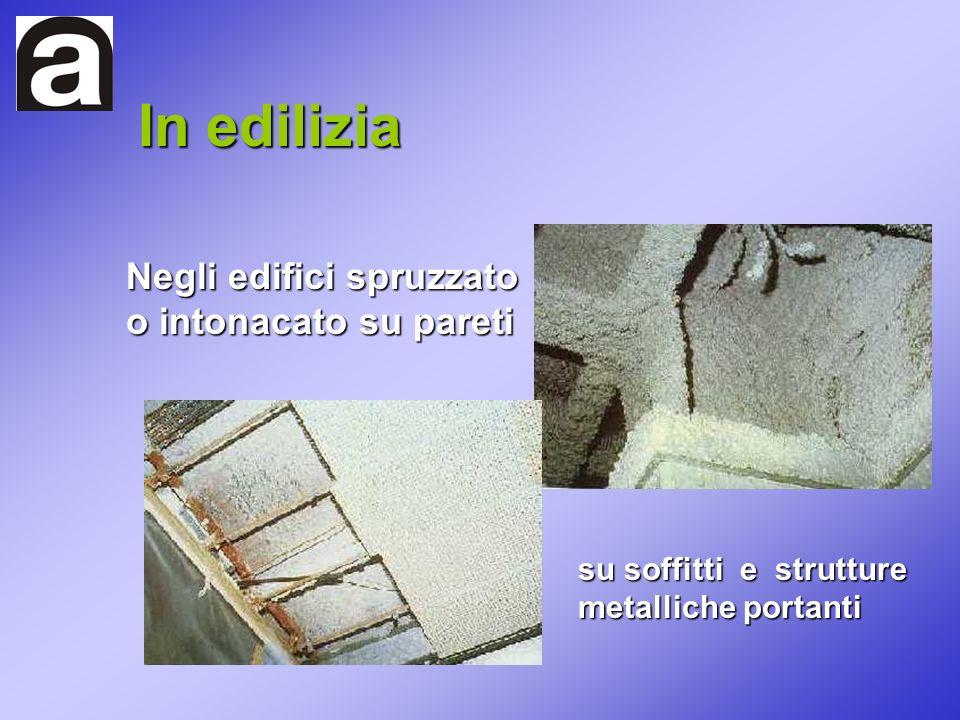 In edilizia Negli edifici spruzzato o intonacato su pareti