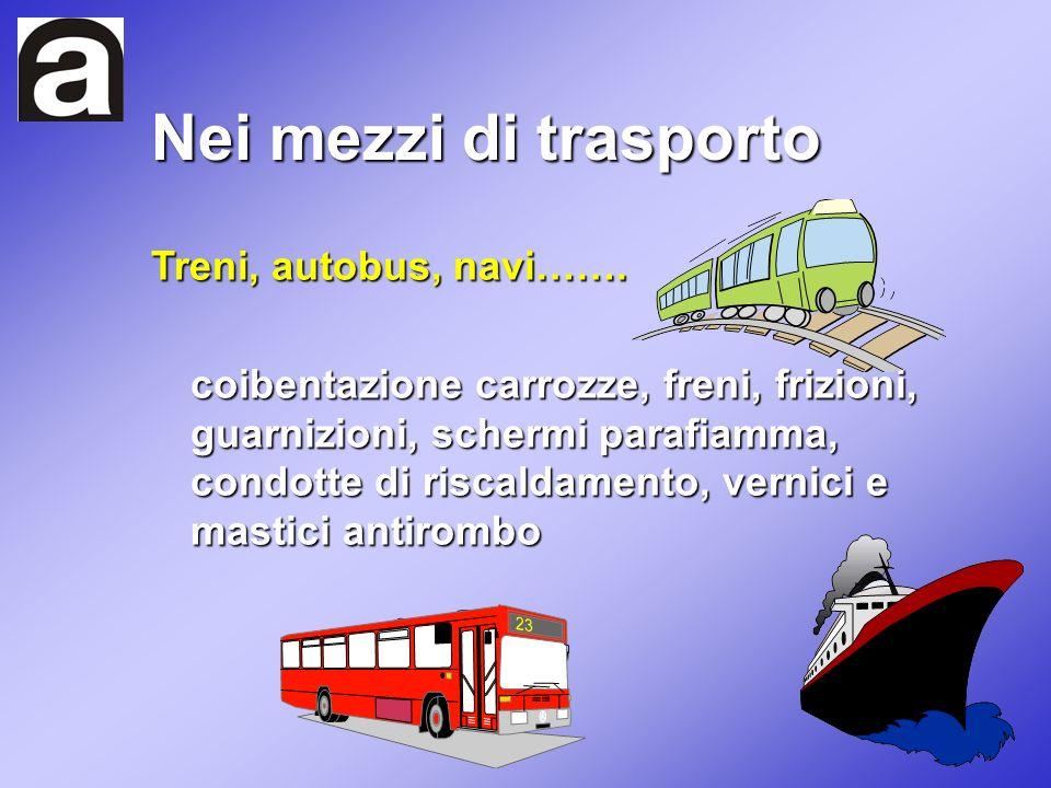 Nei mezzi di trasporto Treni, autobus, navi…….