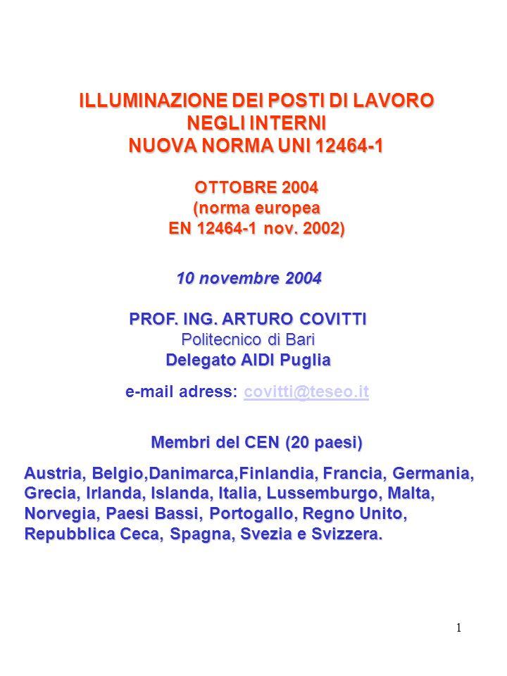 PROF. ING. ARTURO COVITTI