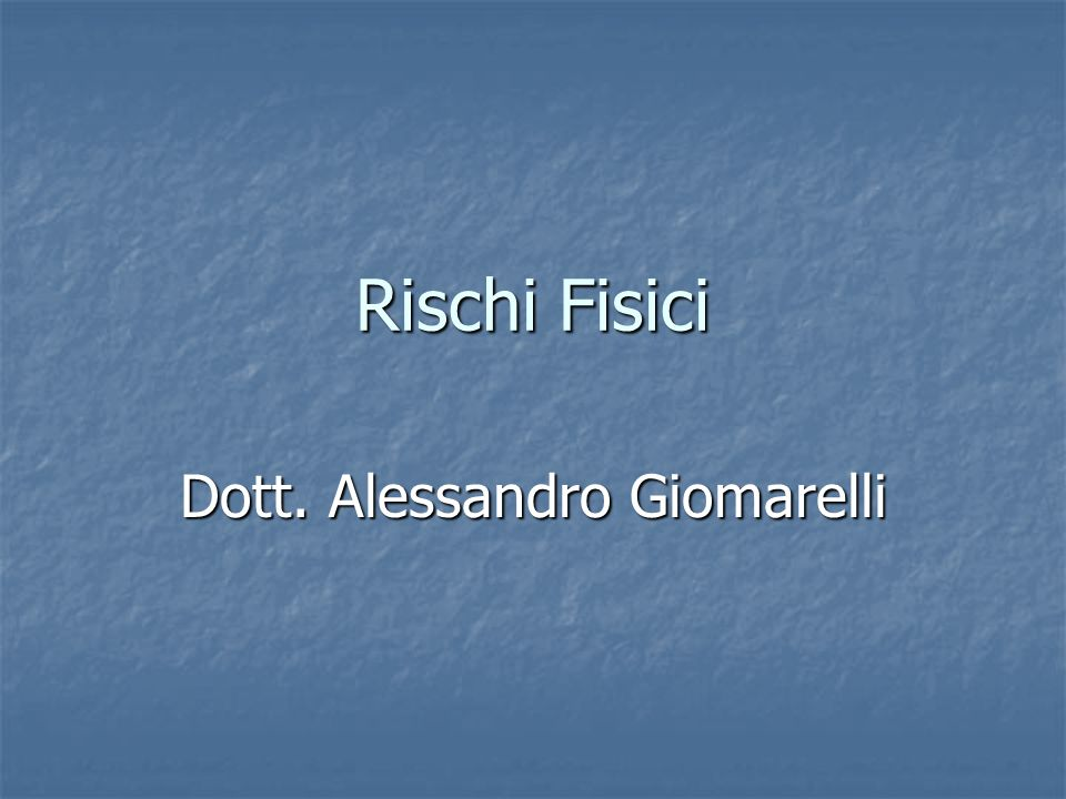 Dott. Alessandro Giomarelli