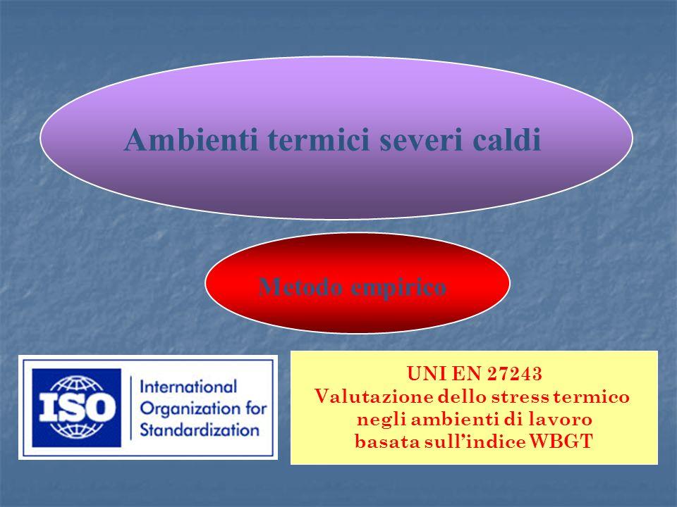 Ambienti termici severi caldi