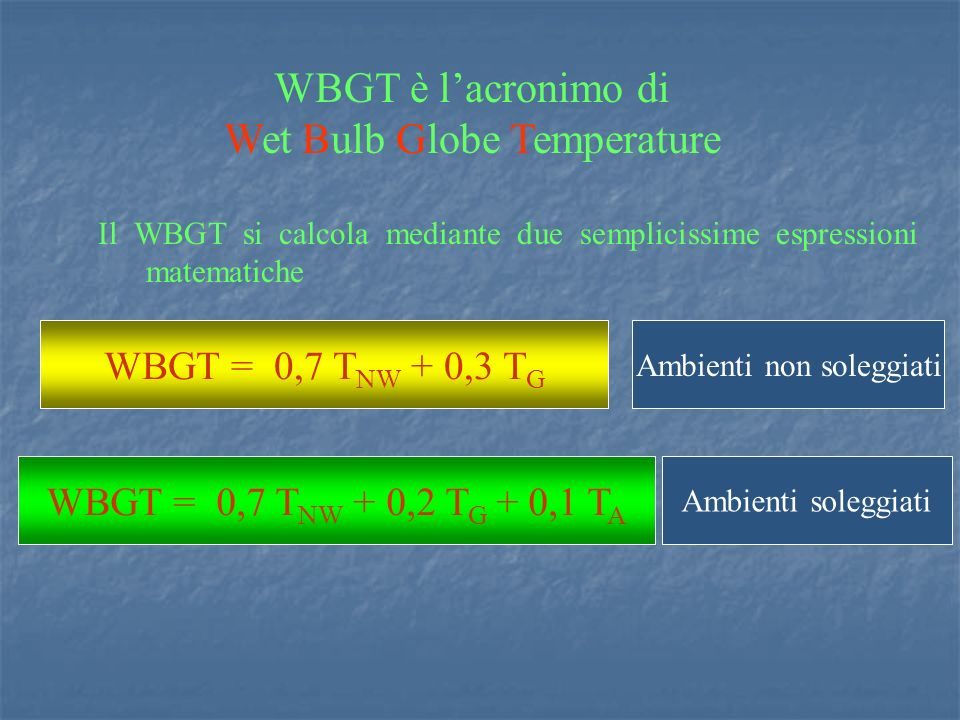 Wet Bulb Globe Temperature
