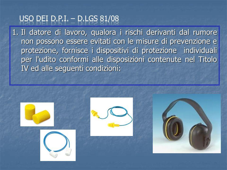 Uso dei d.p.i. – D.Lgs 81/08