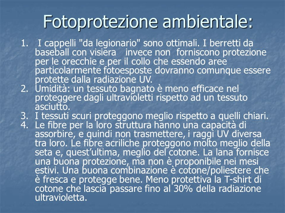 Fotoprotezione ambientale: