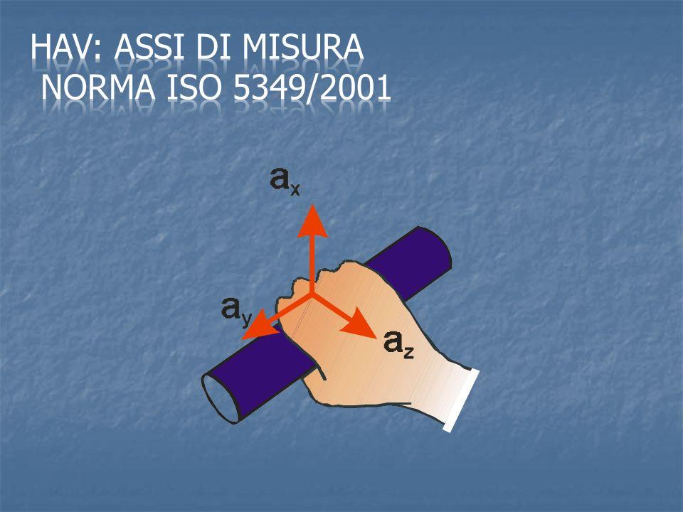 HAV: assi di misura Norma ISO 5349/2001