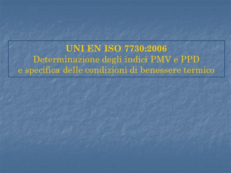 Determinazione degli indici PMV e PPD