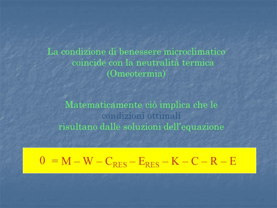 S = M – W – CRES – ERES – K – C – R – E