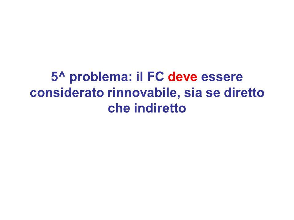 5^ problema: il FC deve essere considerato rinnovabile, sia se diretto che indiretto