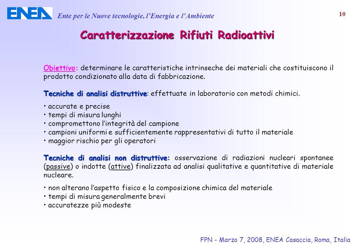 Caratterizzazione Rifiuti Radioattivi