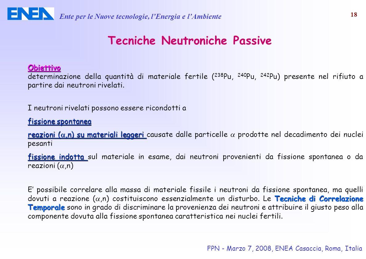 Tecniche Neutroniche Passive