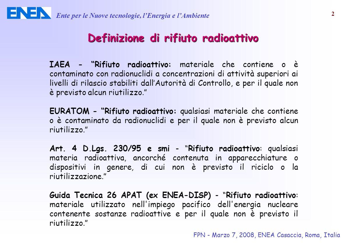 Definizione di rifiuto radioattivo