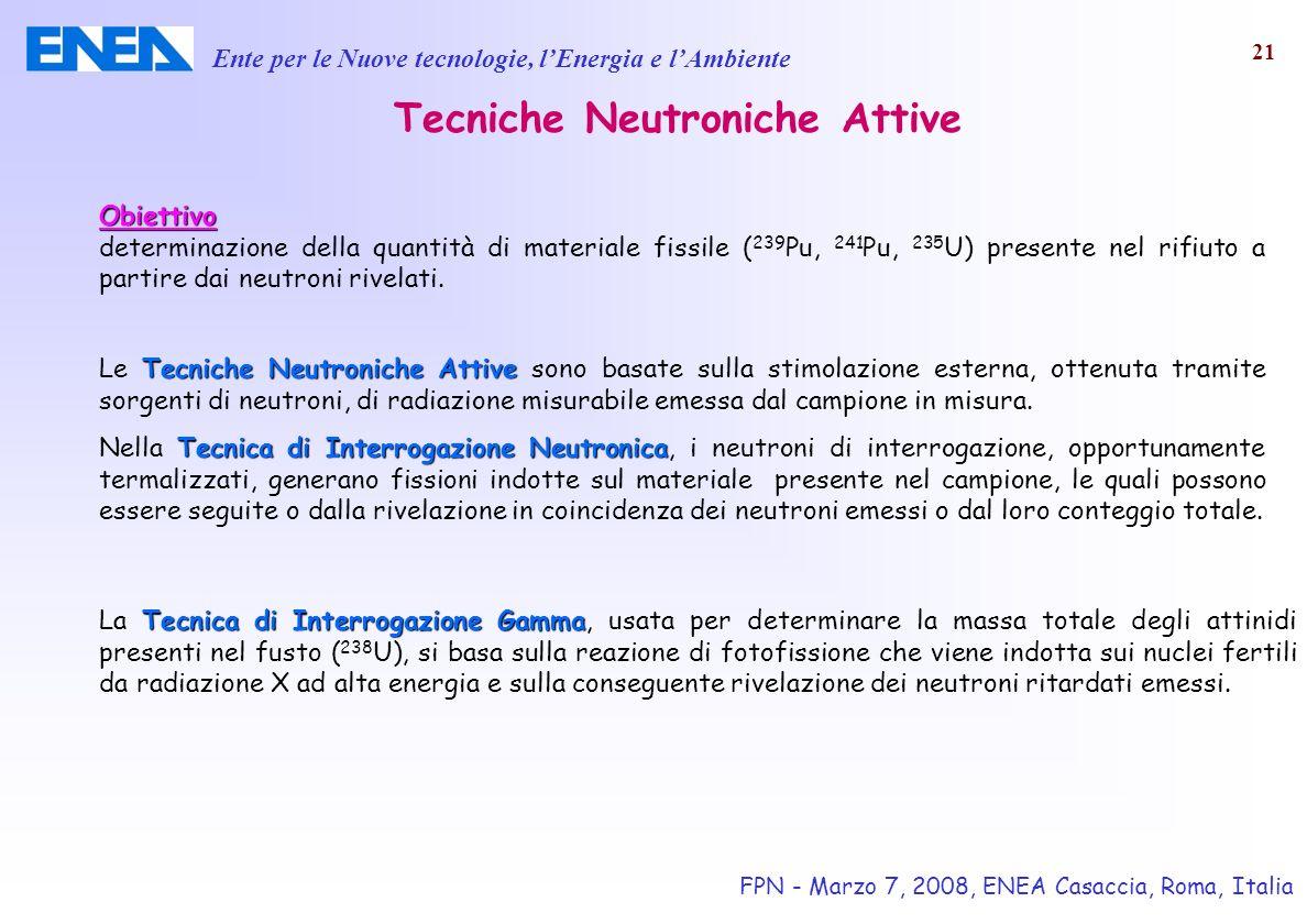 Tecniche Neutroniche Attive