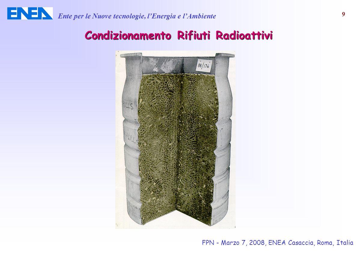 Condizionamento Rifiuti Radioattivi