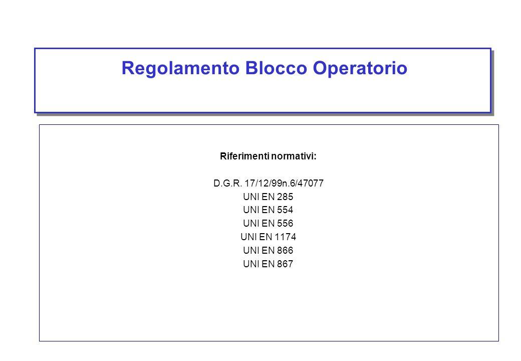 Regolamento Blocco Operatorio
