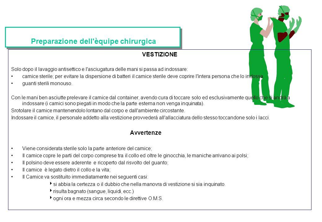 Preparazione dell èquipe chirurgica