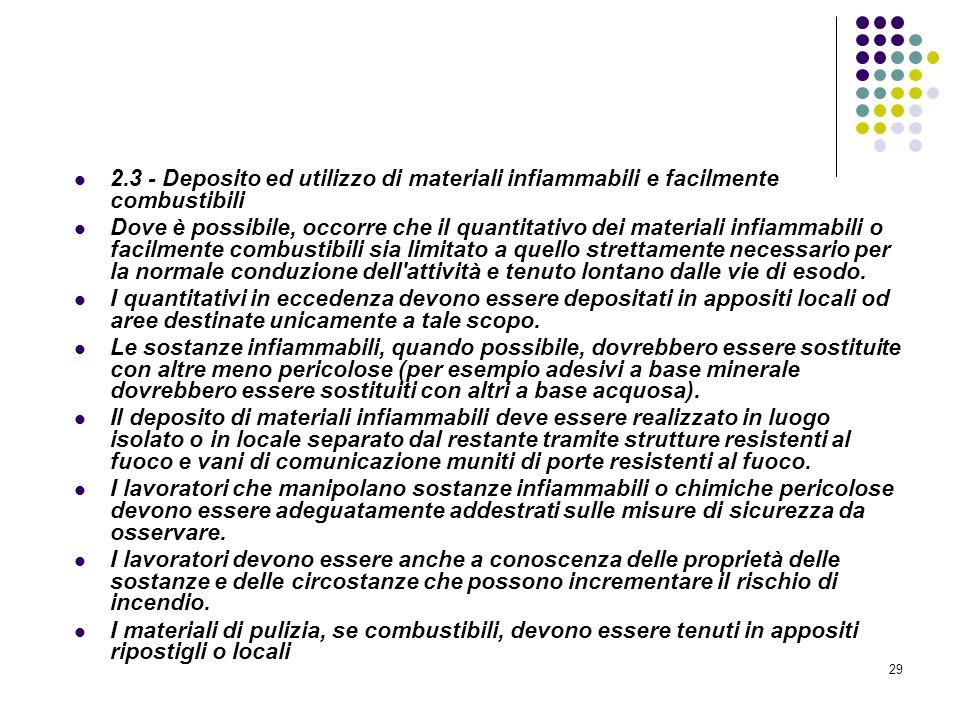 D.M. 10/03/1998 Allegato II Misure intese a ridurre la probabilità di insorgenza degli incendi