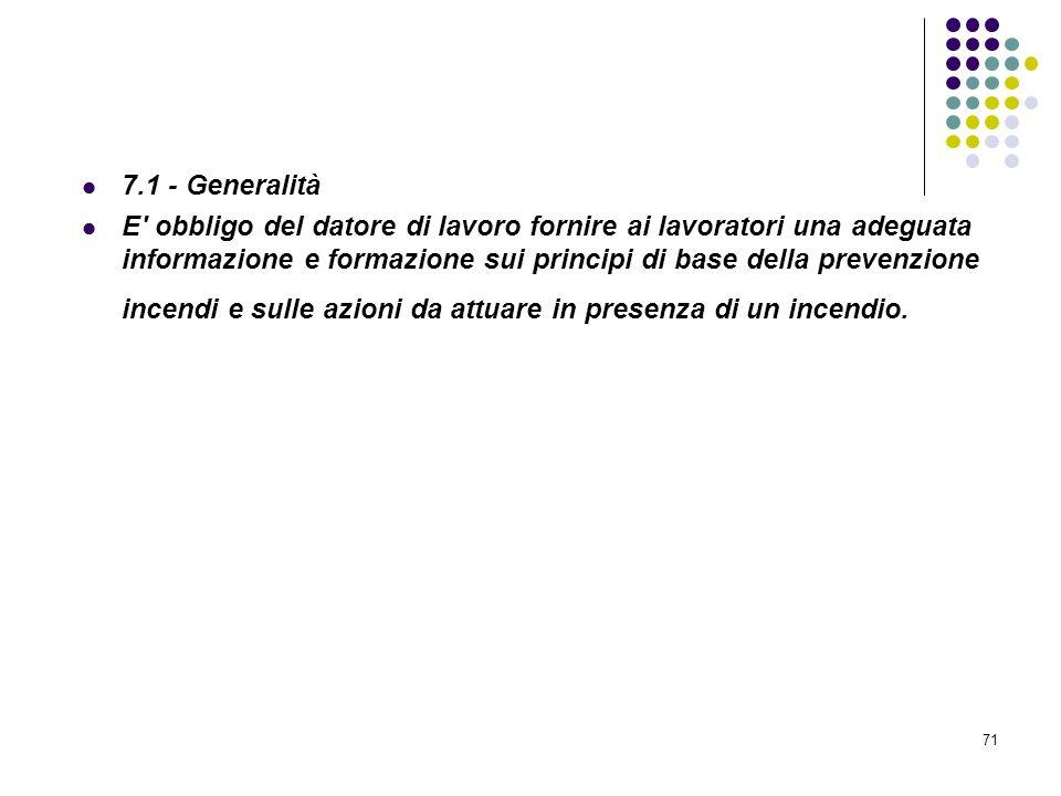 D.M. 10/03/1998 Allegato VII Informazione e formazione antincendio
