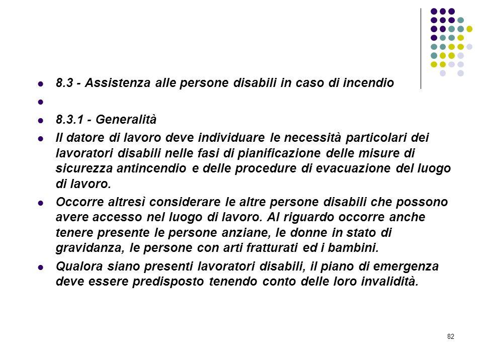 D.M. 10/03/1998 Allegato VIII Pianificazione delle procedure da attuare in caso di incendio