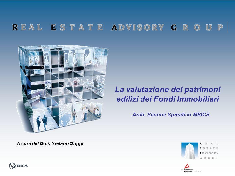 La valutazione dei patrimoni edilizi dei Fondi Immobiliari