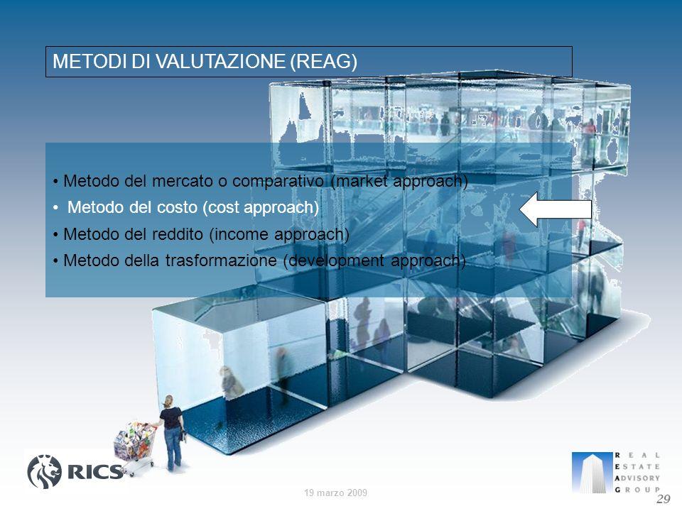 METODI DI VALUTAZIONE (REAG)