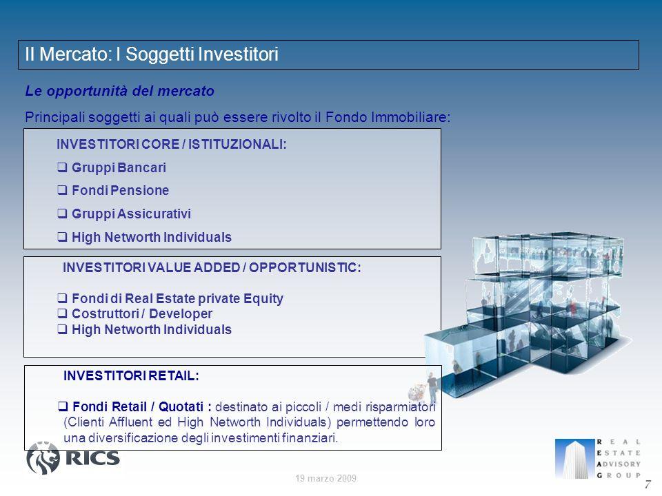 Il Mercato: I Soggetti Investitori