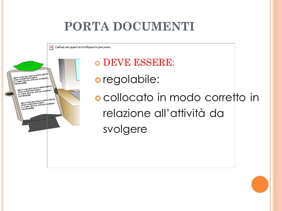 PORTA DOCUMENTI regolabile: