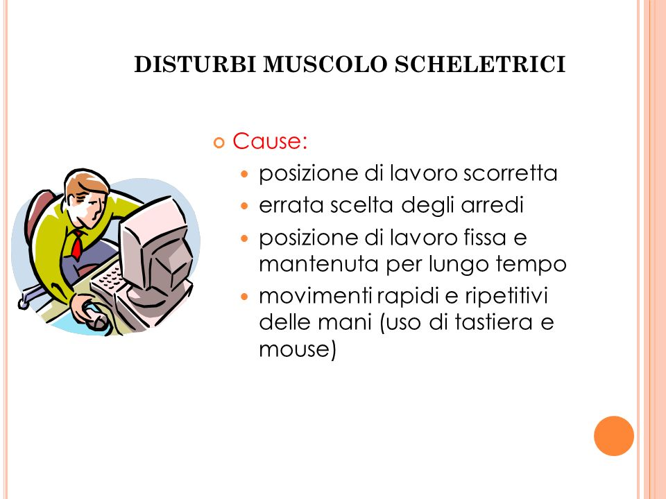 DISTURBI MUSCOLO SCHELETRICI