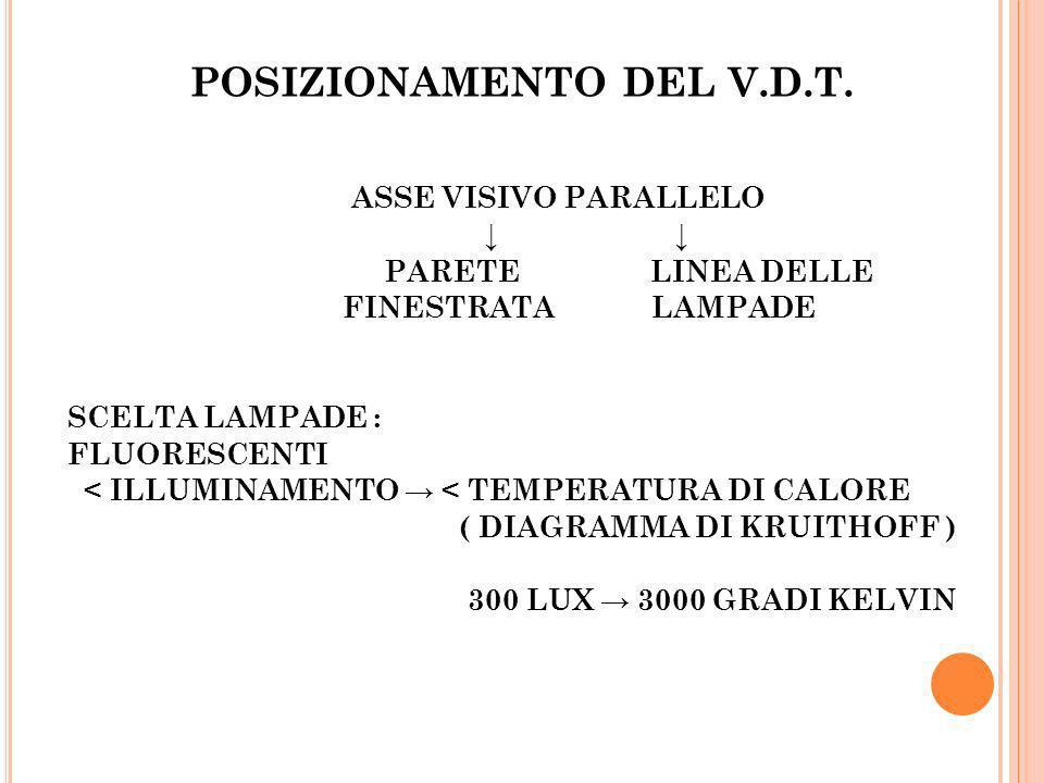 POSIZIONAMENTO DEL V.D.T.