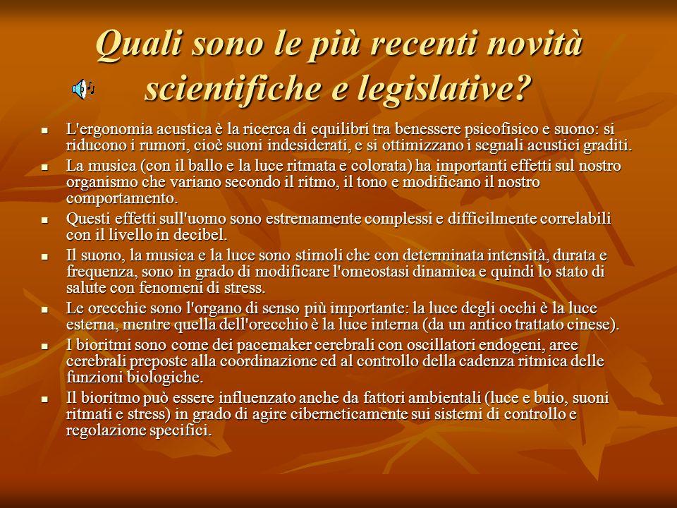 Quali sono le più recenti novità scientifiche e legislative