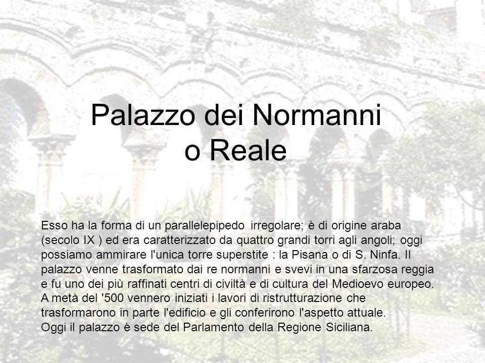 Palazzo dei Normanni o Reale