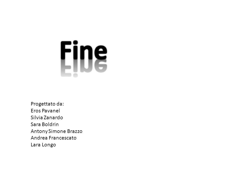 Fine Progettato da: Eros Pavanel Silvia Zanardo Sara Boldrin