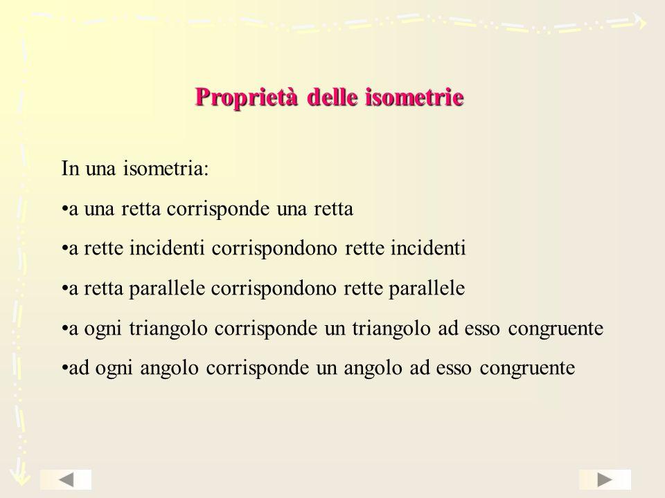 Proprietà delle isometrie
