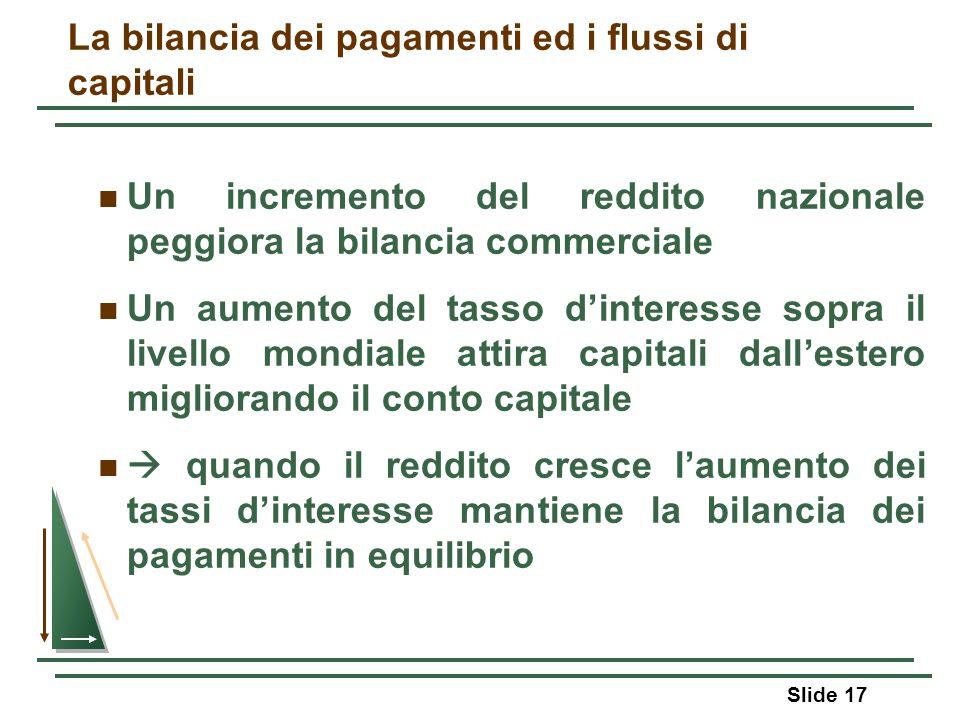 La bilancia dei pagamenti ed i flussi di capitali
