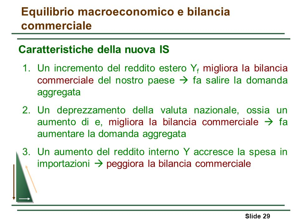 Equilibrio macroeconomico e bilancia commerciale