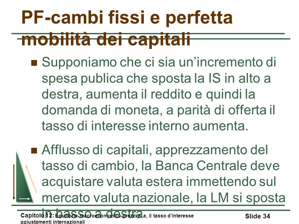 PF-cambi fissi e perfetta mobilità dei capitali
