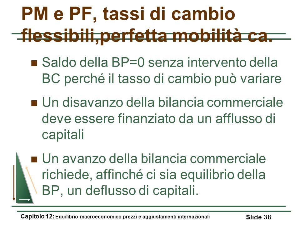 PM e PF, tassi di cambio flessibili,perfetta mobilità ca.