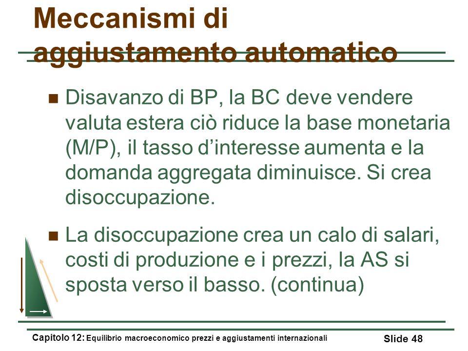 Meccanismi di aggiustamento automatico